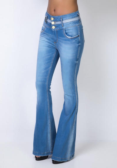 Calça Super High Double Belt Flare Lança Perfume Original 36