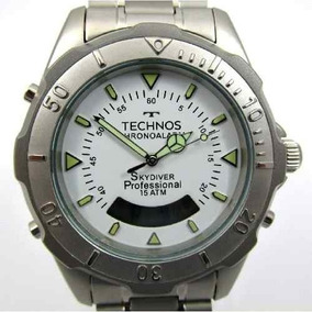 Relógio Masculino Technos Skydiver Aço T20557/3b