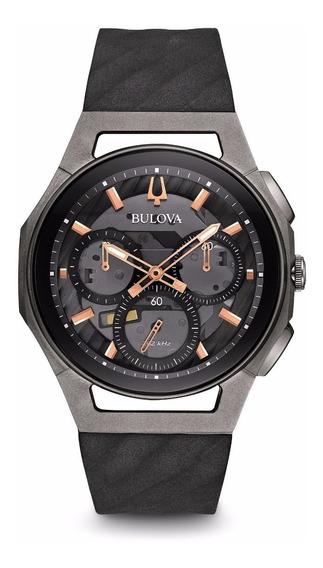 Relógio Bulova Curv Masculino 98a162 Titanio Vidro Safira