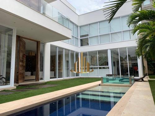 Casa Com 4 Dormitórios Sendo 3 Suítes, 471 M² - Venda Por R$ 6.850.000 Ou Aluguel Por R$ 30.000/mês - Villa Solaia - Barueri/sp - Ca2476