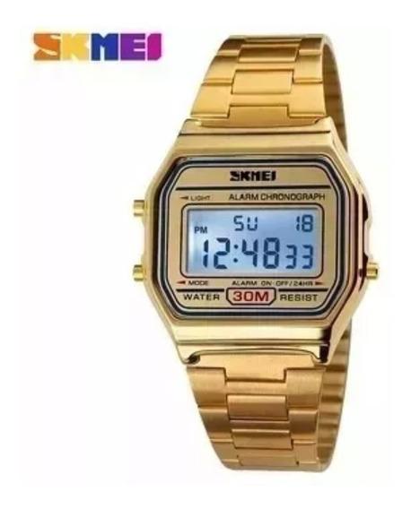 Relógio Unisex Skmei 1123 Gold Pronta Entrega