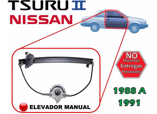 88-91 Nissan Tsuru Ii Elevador Manual Lado Derecho 2 Puertas