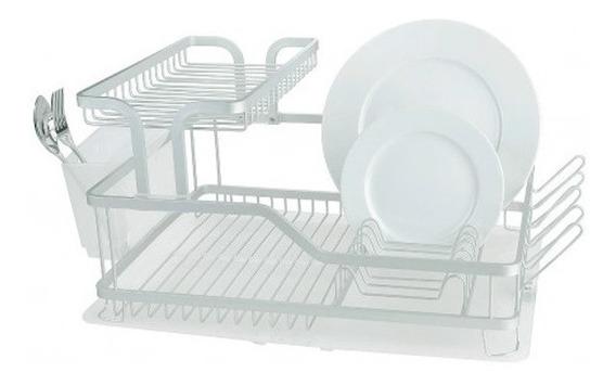 Secaplatos Escurridor Platos Aluminio- 1-1/2 Pisos - Para Cocina- Reforzado - Garantia - Envios - Happy Buy