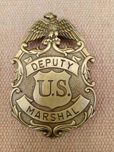 Piocha Metálica (reproducción)u.s. Marshal,color Bronce