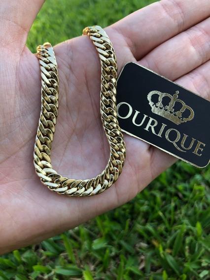 Pulseira Masculina Ouro 18k 750 Modelo Grumet Duplo Promoção