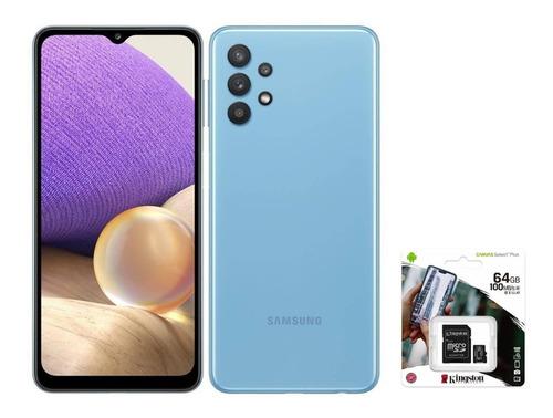 Samsung Galaxy A32 128 Gb Awesome Blue 4 Gb Ram + Sd 64gb