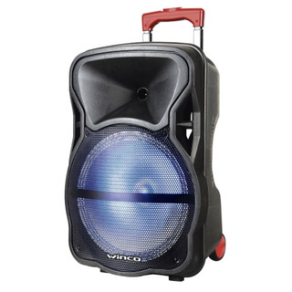Parlante Bluetooth Portatil Bafle 12 Pulgadas Karaoke Winco W239 + Microfono Luces Led Bateria Radio Fm Usb