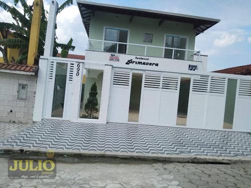 Imagem 1 de 9 de Entrada R$ 37 Mil E Saldo Financiado!casa Com 2 Dormitórios, 47 M² Por R$ 185.000 - Mirim - Praia Grande/sp - Ca4071