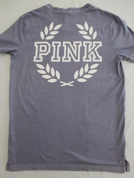 Remera Pink Victoria´s Secret Talle Xsmall Ancha Como Medium