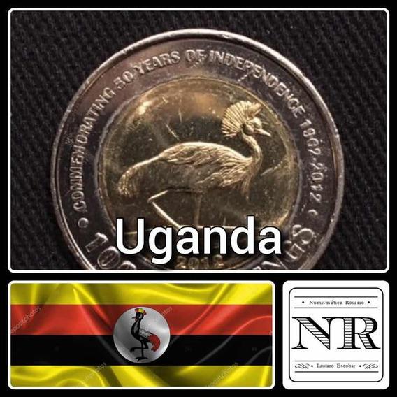 Uganda - 1.000 Shillings - Año 2012 Bimetalica - Km # 278
