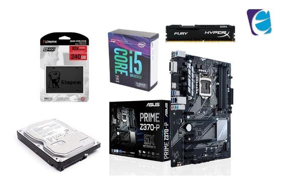 Kit Intel I5 8600k Asus Z370p 16gb Fury Ssd 240gb Hd 2tb
