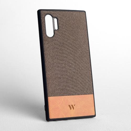 Funda Walden® Mekas Galaxy Note 10 Plus Tejido Gros + Cuero