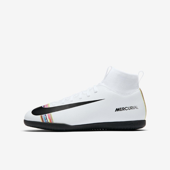 Chuteira Nike Jr Superfly 6 Club Futsal Branco + Nf