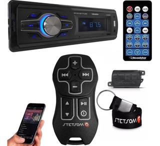 Controle Longa Distância Stetsom + Rádio Bluetooth Roadstar
