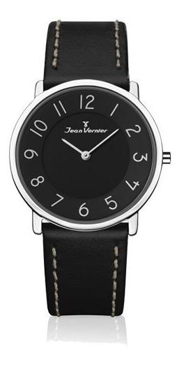 Relógio Slim Jean Vernier Jv35676 Preto Extra Chato