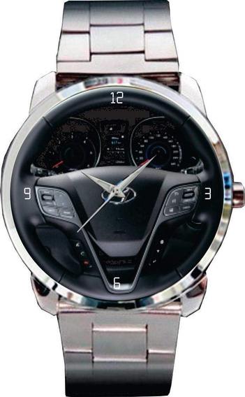 Relógio De Pulso Personalizado Painel Hyundai Santa Fé 2011