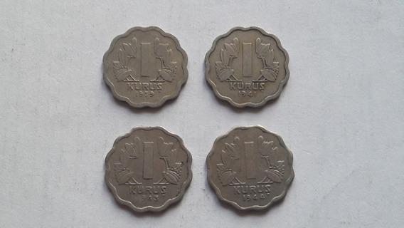 Turquía, 4 Monedas De 1 Kurus 1939, 1941, 1943 Y 1944