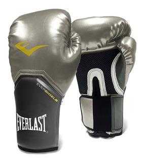 Luva Everlast - Muay Thai - Boxe Pro Style Elite [prata]