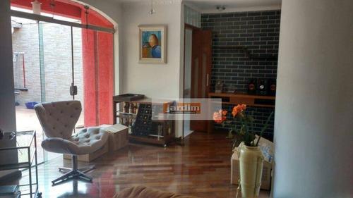 Imagem 1 de 7 de Sobrado Residencial À Venda, Vila Pires, Santo André. - So1874