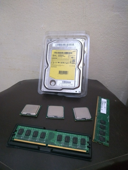 Kit:3 Cpus 2 Memórias E 1 Hd 320gb