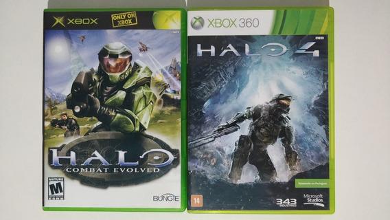 Kit Halo Jogos Xbox 360 Xbox Classic Mídia Física Halo 4