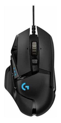 Mouse de juego Logitech  G Series Hero 16K G502 negro