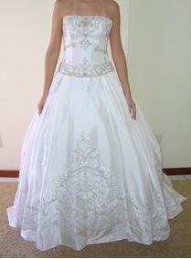 Vestido De Noiva 36 Marfim Princesa Pronta Entrega - Vn00036
