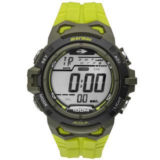 Relógio Mormaii Masc Verde Com Pulseira Verde Mo1147a 8v