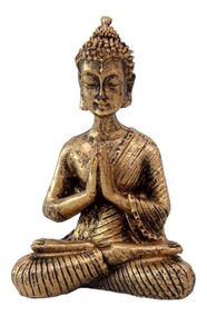 Buda Hindu Namastê Tailandês Tibetano Sidarta Em Resina 9cm.