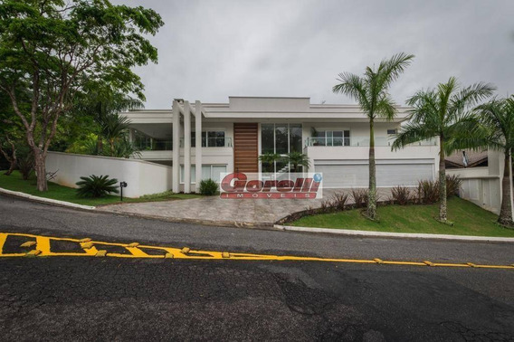 Casa Com 4 Dormitórios À Venda, 735 M² Por R$ 7.000.000,00 - Condomínio Hills I E Ii - Arujá/sp - Ca1286
