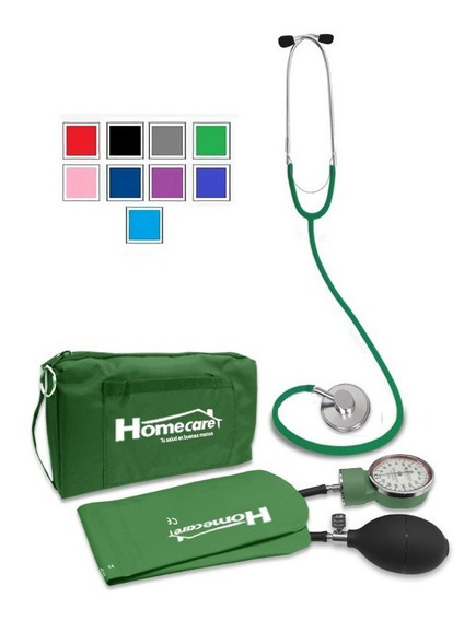 Kit Baumanómetro Estetoscopio Simple Homecare Varios Colores