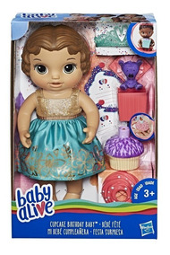 Boneca Baby Alive Festa Surpresa Morena - Hasbro E0597