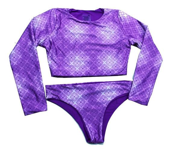 Traje De Baño Reversible Dos Vistas Bikini 2 En 1 Para Dama