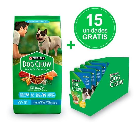 Dog Chow ® Control De Peso 21kg + Alimento Húmedo Gratis