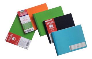 5 Cuadernos Italiano Cosido First Class 100 Hojas Surtido
