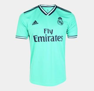 Camisa Real Madrid Verde Água adidas Oficial + Frete Grátis