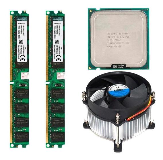 4gb Memoria Ddr2 (2x2) Core 2 Duo E8400 E Cooler Dex