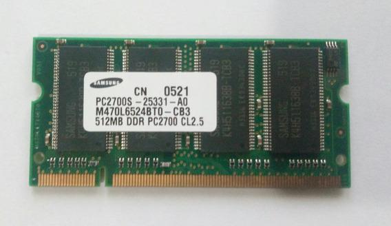 Memoria Ram Samsung Ddr1 512mb Pc2700 Sodimm Para Notebook