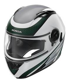 Capacete Honda Hf2 2018 Branco/verde Original Honda
