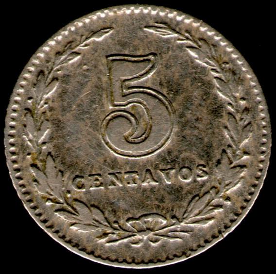 Spg Argentina 5 Centavos 1899
