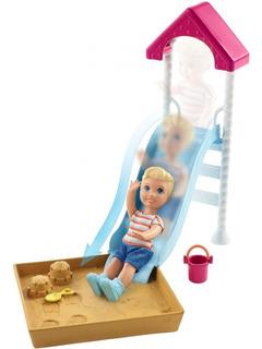 Barbie Skipper Set - Nenito Tobogán Con Arenero