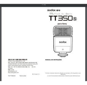 Manual Em Português Do Flash Godox Tt 350s Para Sony
