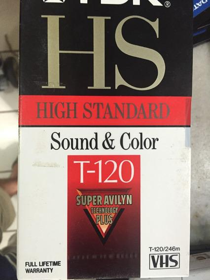 Fitas Para Video Cassete Tdk Hs T120 Lacrada