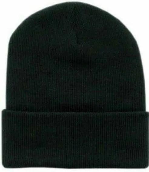 Touca Frio Inverno Lã Preta Adulto Unissex Premium Vcstilo