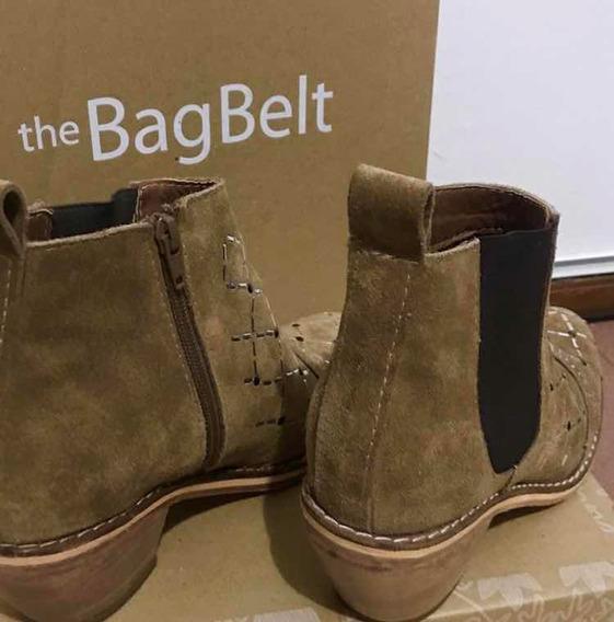 The Bag Belt Bota Botineta Tachas 2018 Nude