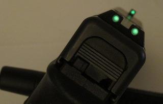 Mira Mh3 Para Glock Nocturna Fluorescente