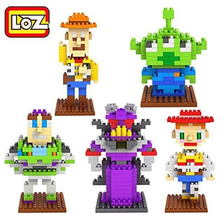Juguete Loz 5box Diamond Bloque Toy Story Woody Buzz Lightye