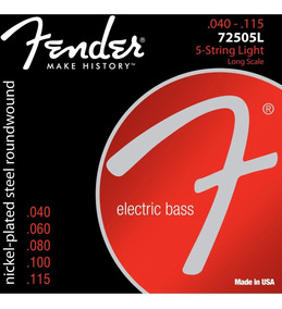 Encordoamento P/ Contra-baixo 5 Cordas Aço 0.40 Marca Fender