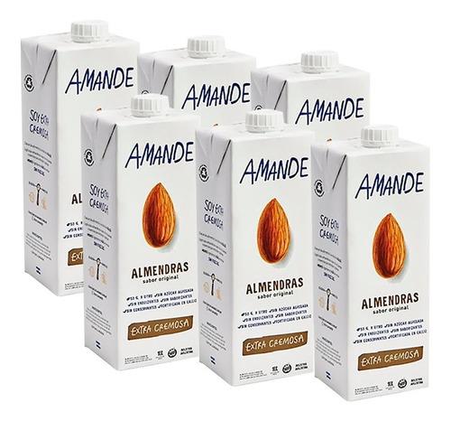 Leche Almendras Amande X1l Pack X6u