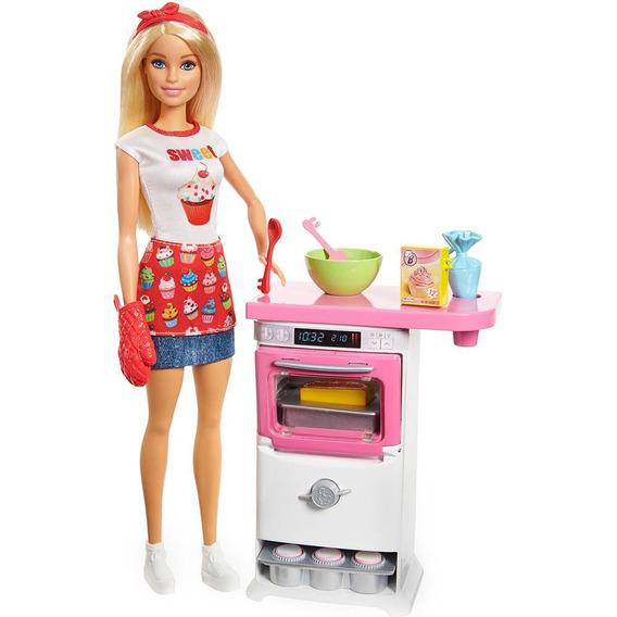 Boneca Barbie Cozinhando E Criando Chef De Bolinhos Mattel